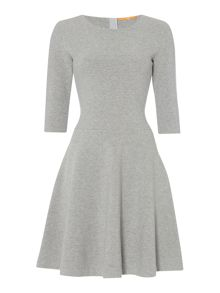 Hugo Boss Dipleati 3/4 sleeve fit and flare dress