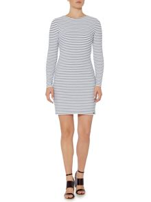 Hugo Boss Damarina striped fitted dress