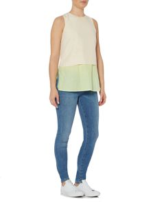 Hugo Boss Civille sleeveless layered top