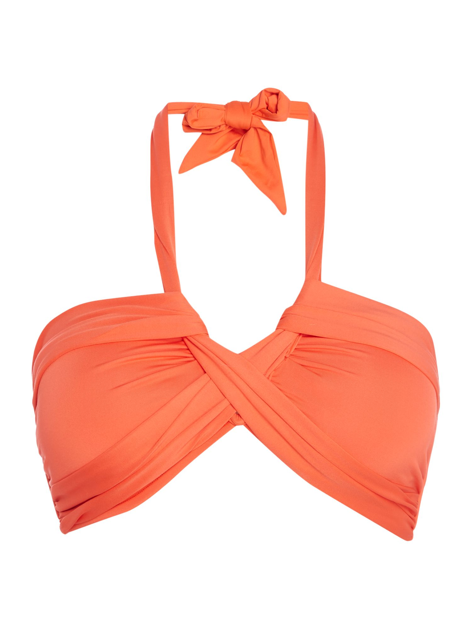 Seafolly Bandeau bikini top, Dark Orange