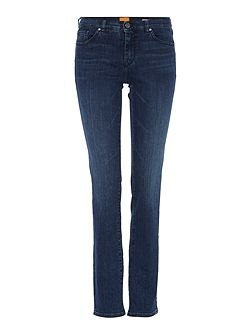 Orange J30 Straight Jeans in dark blue