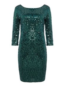 Vila viglitz all over sequin bodycon dress
