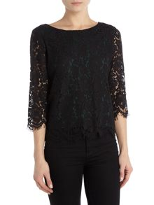 Vila vileicka 3/4 sleeveless lace top