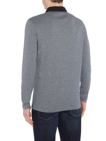 Michael Kors Long sleeve textured polo shirt
