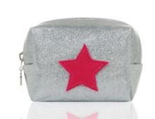 Emma Lomax Sparkly Silver Make Up Bag