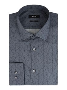 Hugo Boss Jenno Slim Fit Geo Print  Shirt