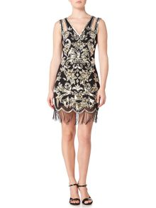 Frock and Frill Alessa sleeveless all over sequin flapper dress