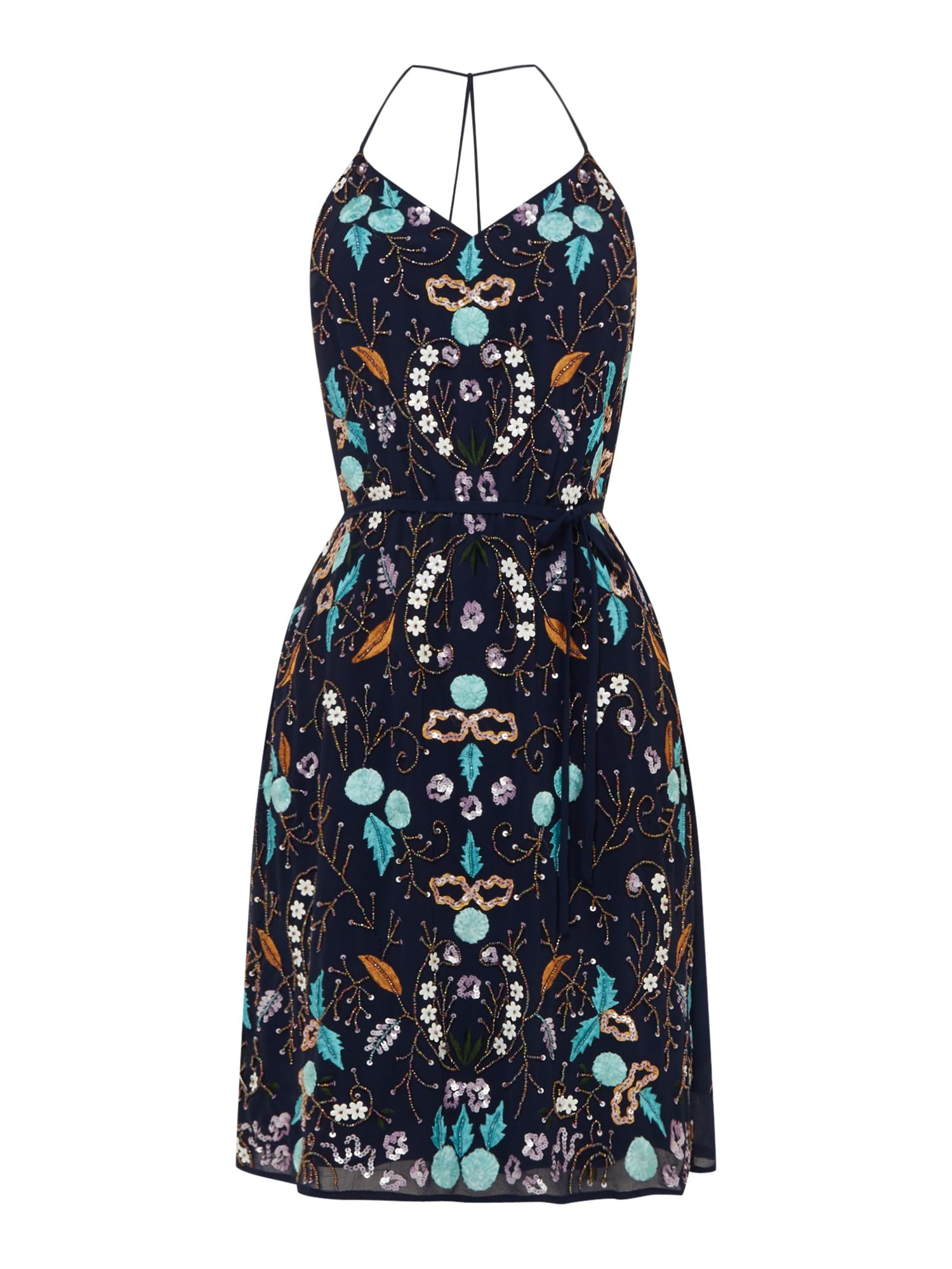 Frock and Frill Embellished sequin dress, Blue