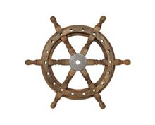 Linea Ships Wheel Ornament
