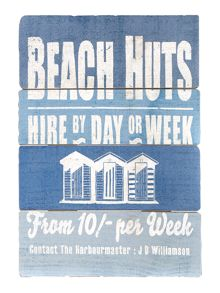 Linea Beach Hut Sign
