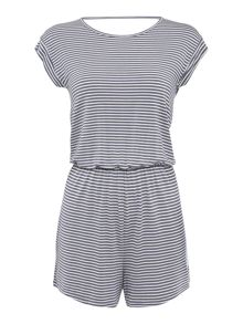 Dickins & Jones Denim stripe playsuit