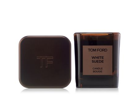 Tom Ford White Suede Candle And Cover Set