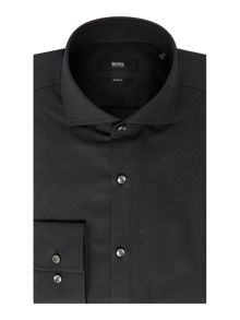 Hugo Boss Jason Slim Fit Tonal Textured Slim Fit Shirt