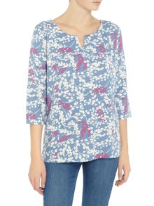 LILY & ME Meadow grass woven top