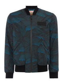 Hunter Original Wave-Print Insulated Bomber