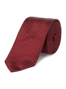 Hugo Boss Silk Tonal Fine Check Tie