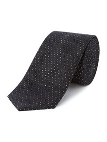 Hugo Boss Silk Textured Dot Print Tie