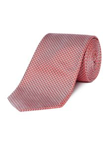 Hugo Boss Geometric Print Textured Tie