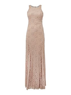 Lace sequin dress with embellished shaping