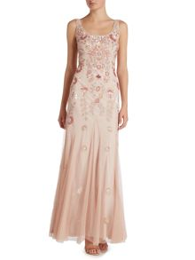 Adrianna Papell Embellished gown with floral detail
