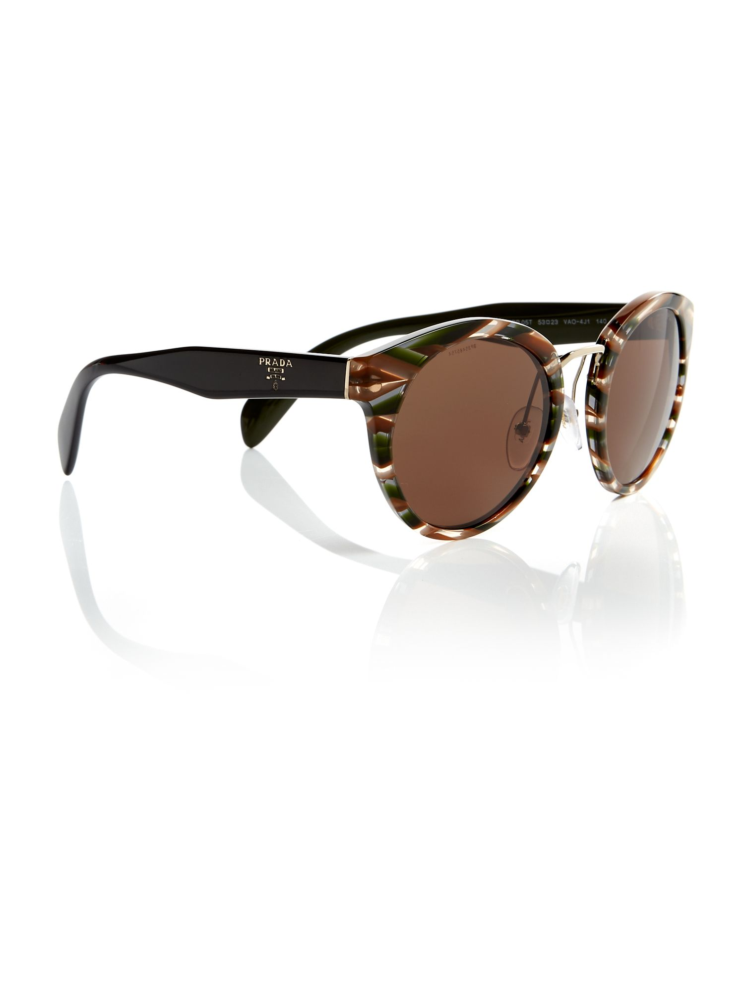 Prada Grey phantos PR 05TS sunglasses, Grey.