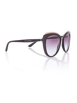 Black cat eye DG4304 sunglasses
