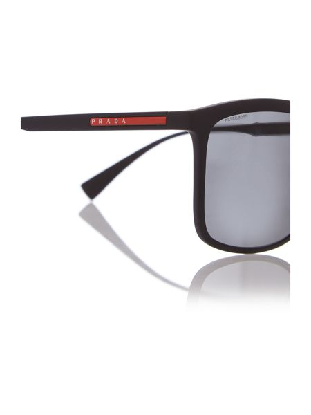 Prada Linea Rossa Black rectangle PS 03SS sunglasses