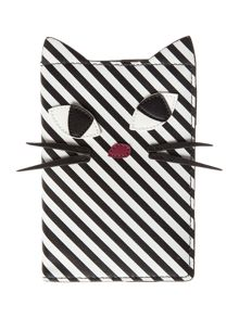 Lulu Guinness Stripe kooky cat travel set