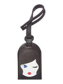 Lulu Guinness Lulu doll face  luggage tag