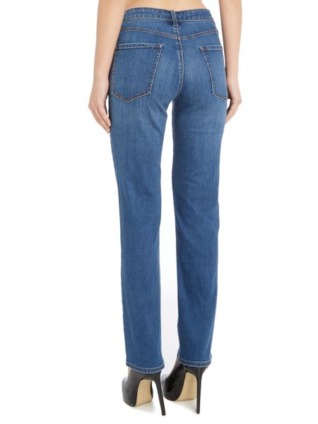 J Brand Amelia mid rise straight jeans in syndicate