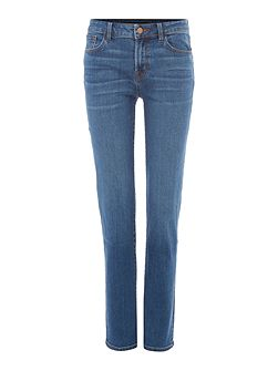 Amelia mid rise straight jeans in syndicate