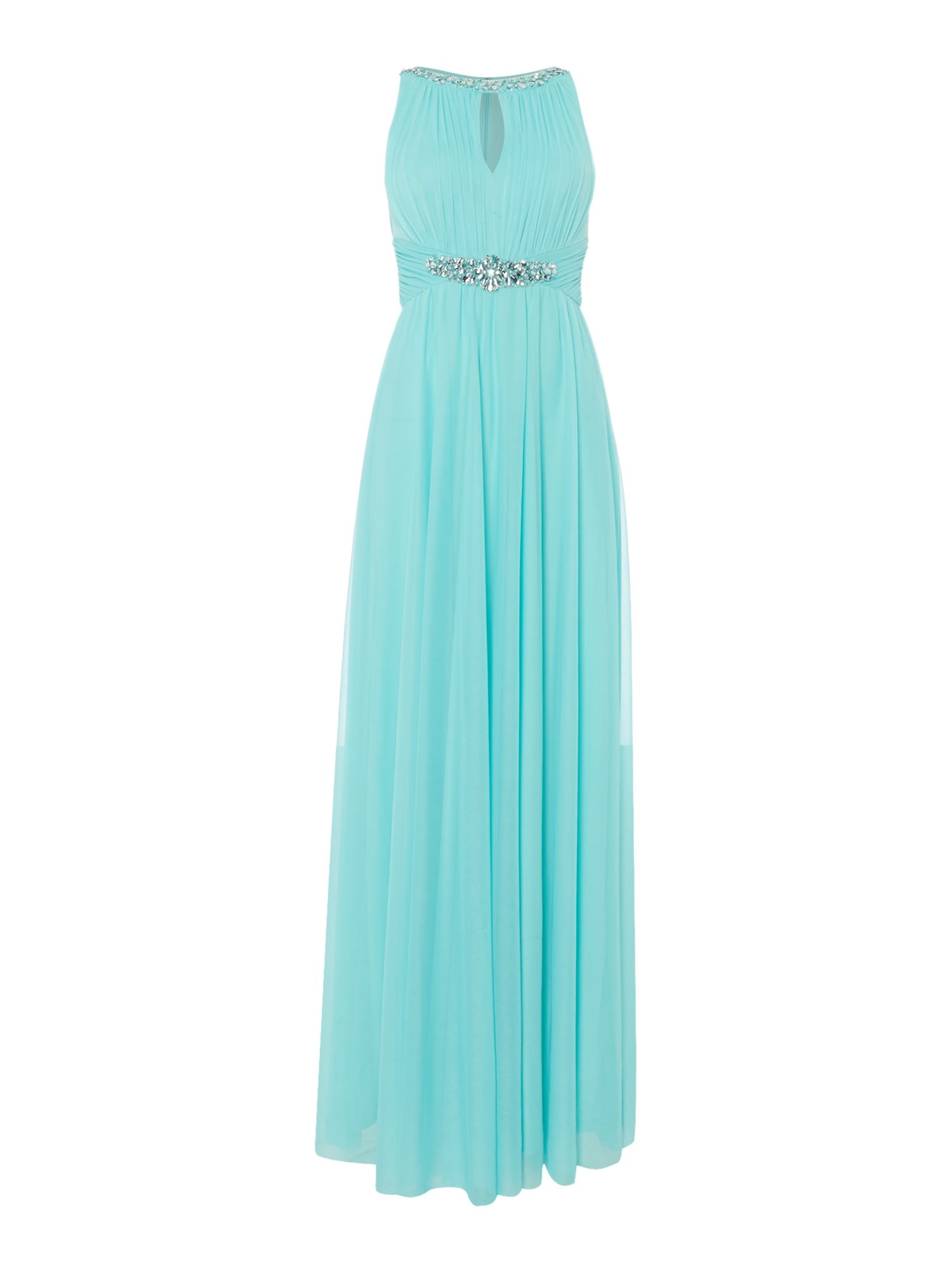 Eliza J Keyhole beaded waist dress, Mint