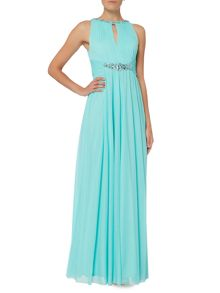 Eliza J Keyhole beaded waist dress