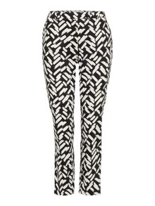 Linea Brush stroke printed trouser