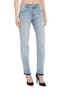 J Brand Amelia dip dye straight jeans in deserted