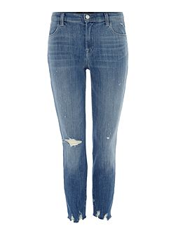 Alana high rise crop skinny jean in fantasy