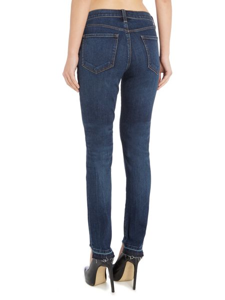J Brand 811 skinny jean with front hem cut in mesmeric