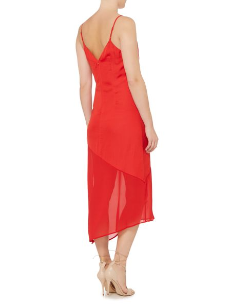Bardot makayla sleeveless spliced slip midi