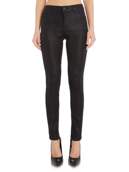 J Brand 620 super skinny coated jeans in fearless