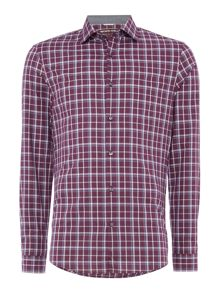 Michael Kors Caden slim fit plaid shirt