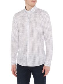 Michael Kors Corey slim fit geo print shirt