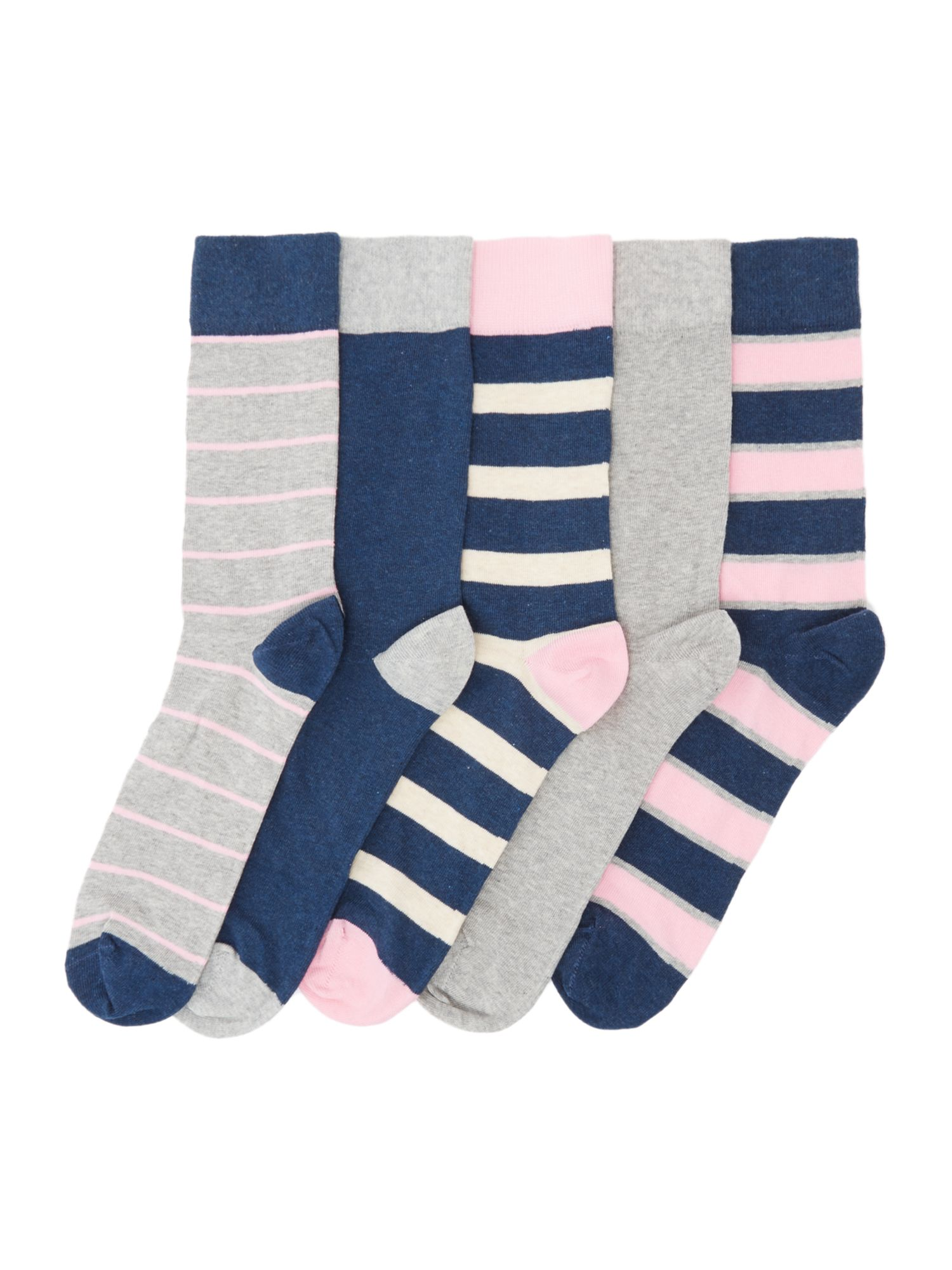 Click to view product details and reviews for Mens Howick 5 Pack Marl Rugby Socks Pink.