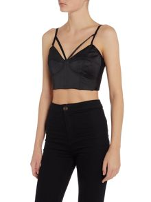 Bardot billie sleeveless crop