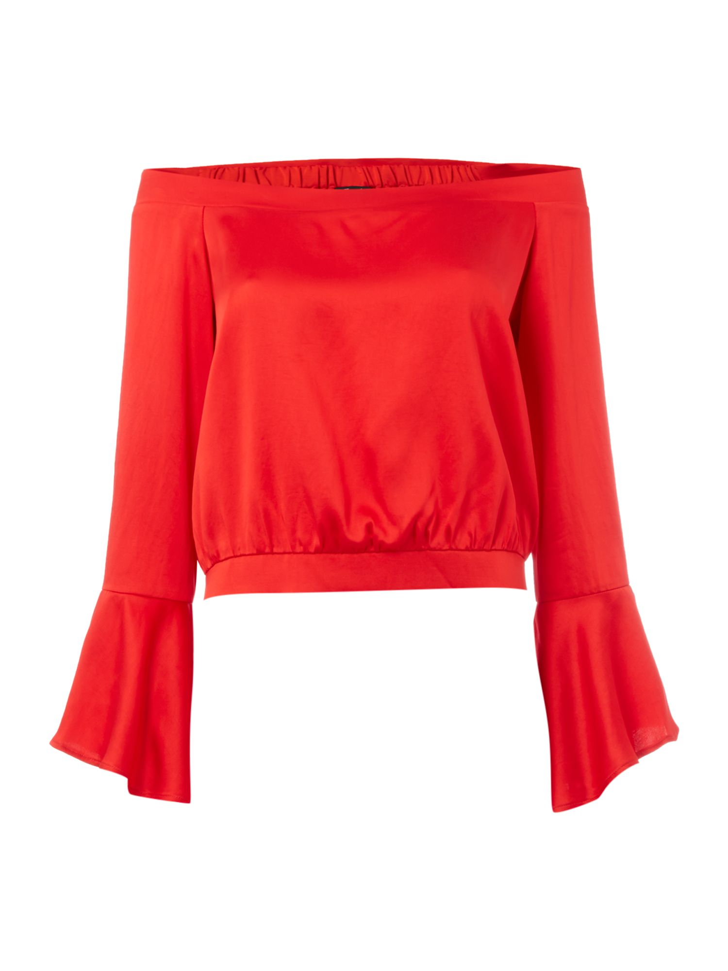 Bardot paige longsleeve top, Red