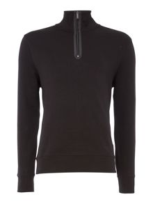 Michael Kors Liq quarter zip nylon mix sweatshirt