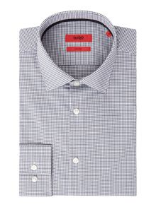 Hugo Joey Slim Fit Gingham Contrast Shirt