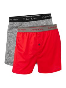 Calvin Klein 2 Pack Slim Woven Boxers
