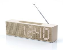 Lexon Titanium Clock Radio, Soft Gold