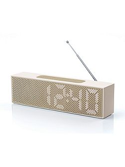 Titanium Clock Radio, Soft Gold