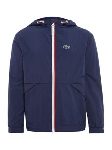 Lacoste Boys Zip Up Hooded Windbreaker